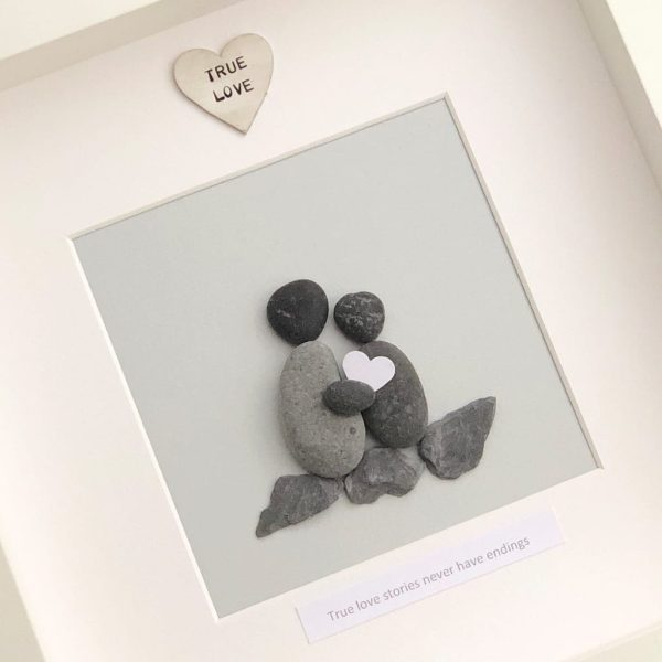 'True Love Stories Never Have Endings' Pebble Picture
