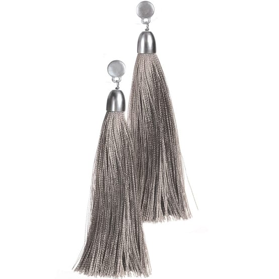 Tassel-tastic Silver Earrings