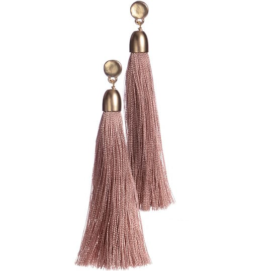 Tassel-tastic Vintage Pink Earrings