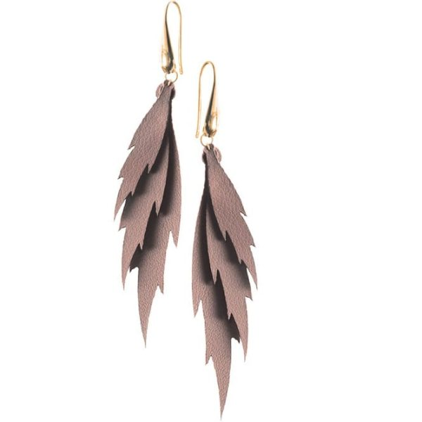 Three Leaves Copper Earrings