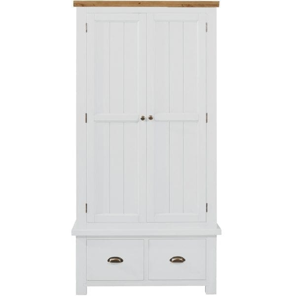 Gresford White 2 Door 2 Drawer Wardrobe