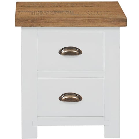 Gresford White 2 Drawer Bedside Table