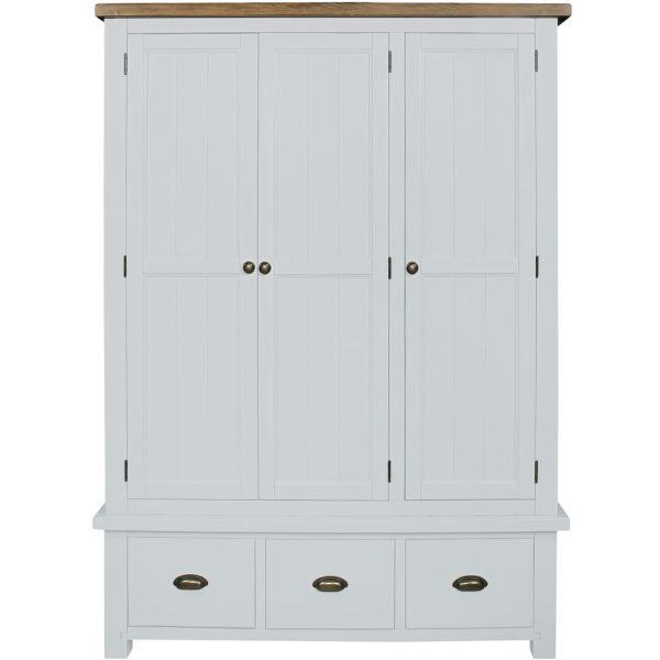 Gresford White 3 Door 3 Drawer Wardrobe