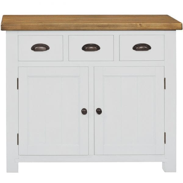 Gresford White 3 Drawer 2 Door Sideboard