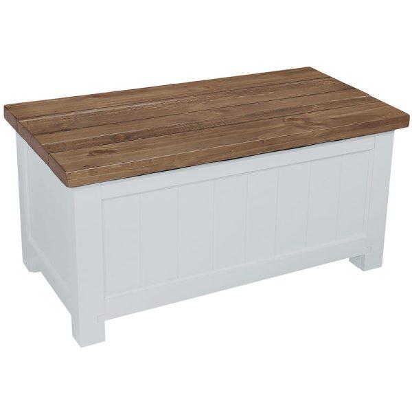 Gresford White Blanket Box