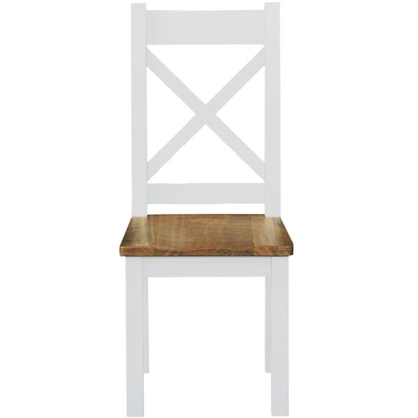 Gresford White Dining Chair Wooden Seat