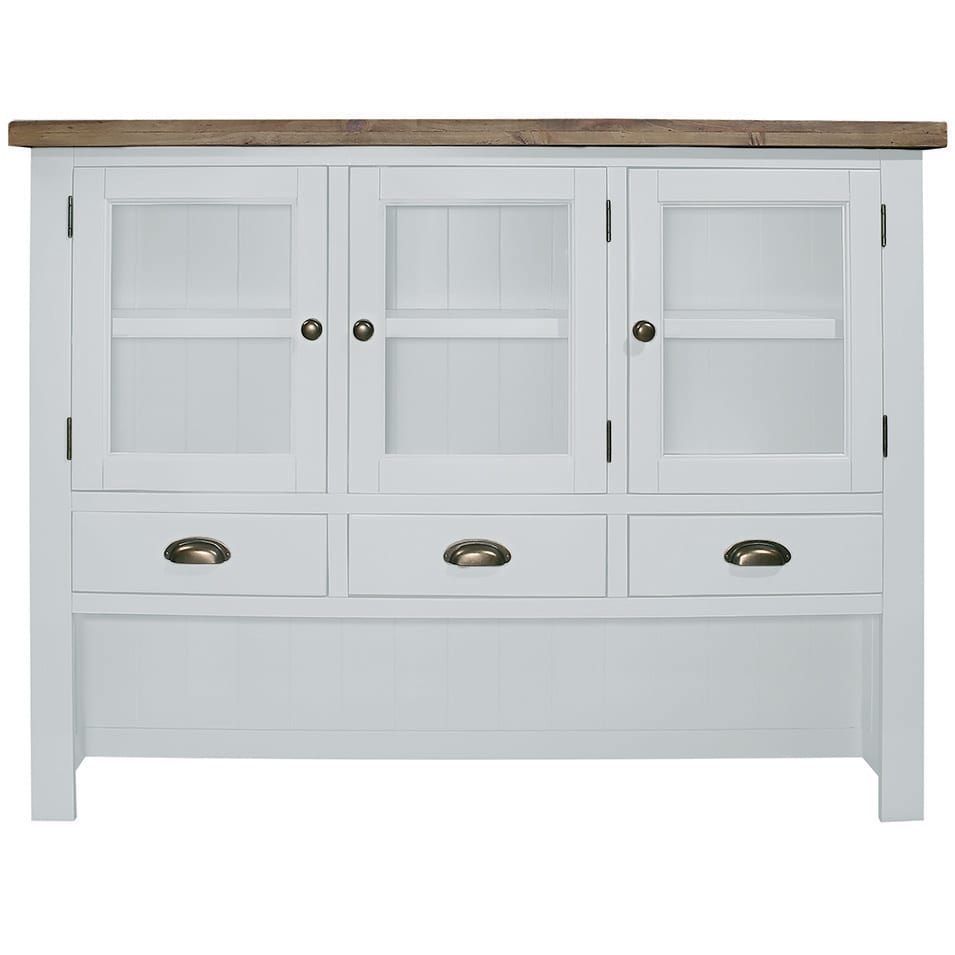 Gresford White Hutch 3 Door 4 Drawer Sideboard