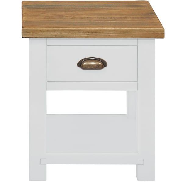 Gresford White Lamp Table