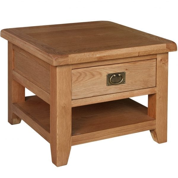 Harvard Oak Lamp Table with Drawer