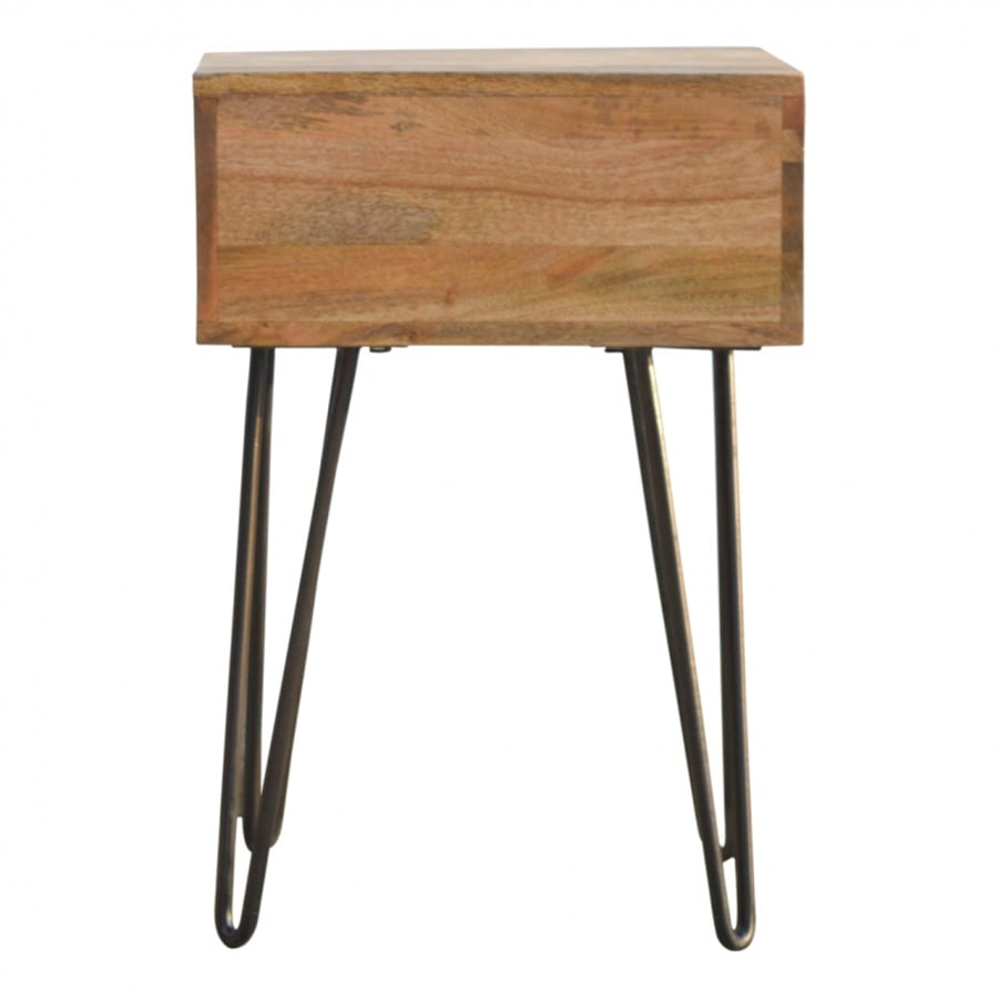 Mango Hill 1 Drawer Bedside with Iron Base