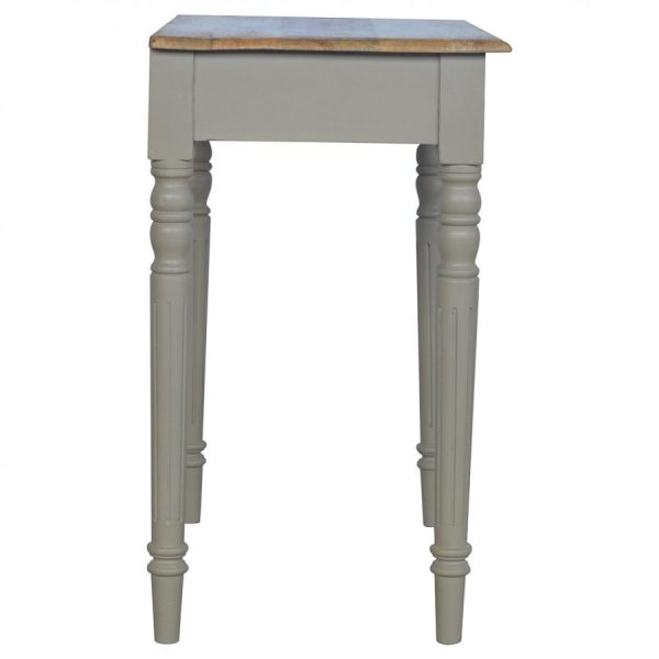 Mango Hill 1 Drawer Writing Desk with Flute Legs