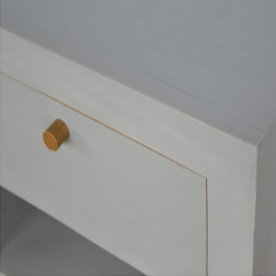 Mango Hill Cement Bedside with Gold Detailing and Open Slot