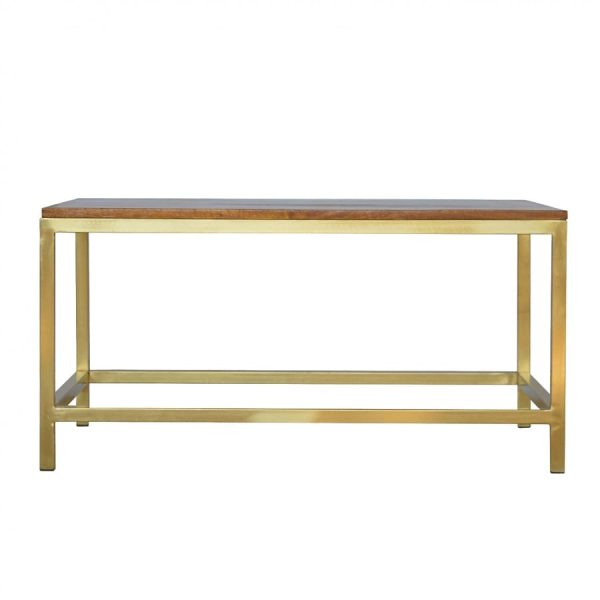 Mango Hill Coffee Table with Golden Iron Base