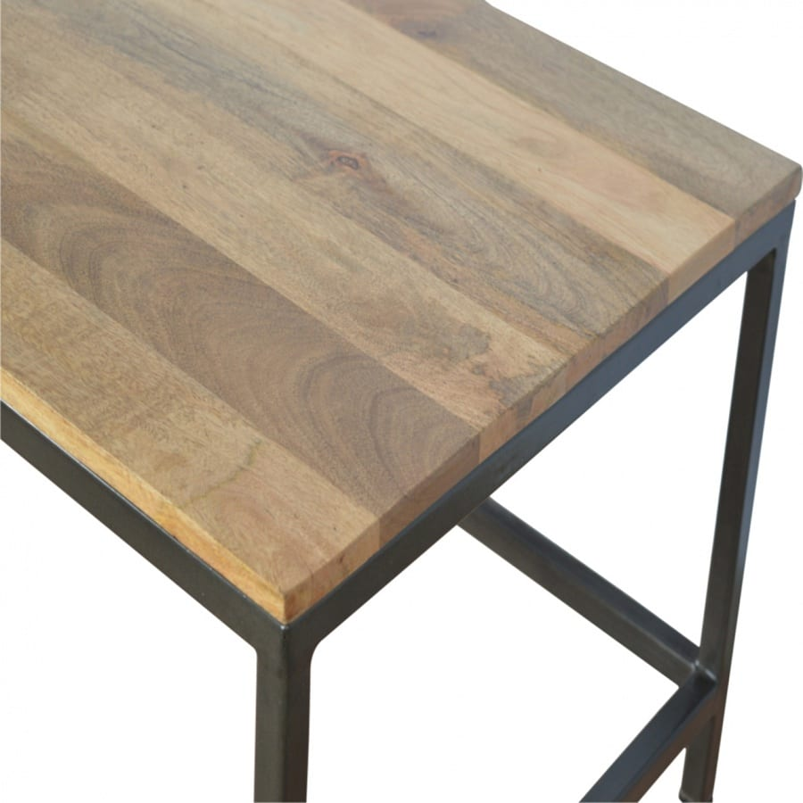 Mango Hill Coffee Table with Iron Base