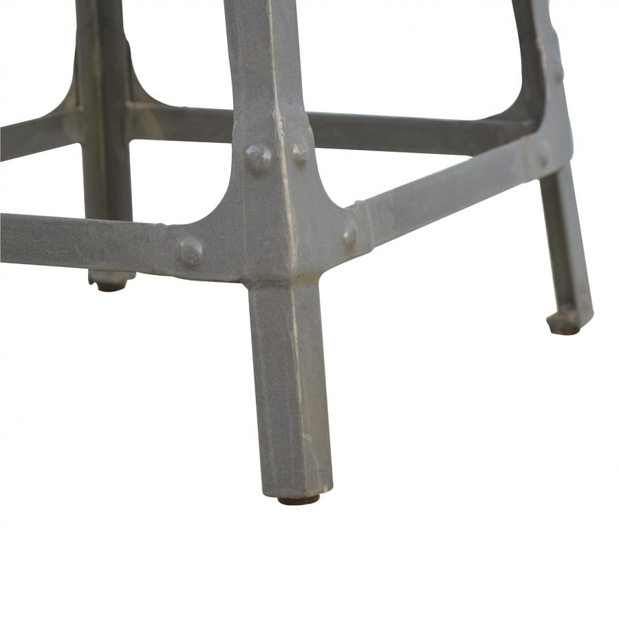 Mango Hill Iron Kitchen Table with 3 Nesting Stools