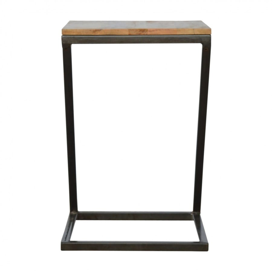 Mango Hill Side Table with Iron Base