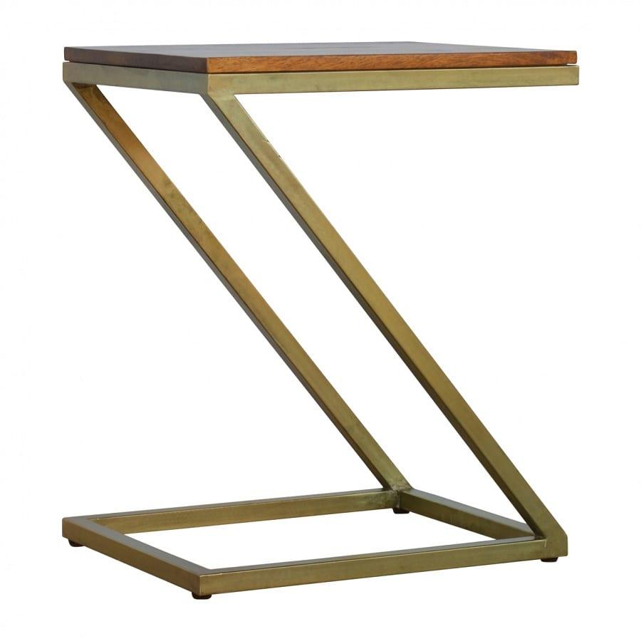 Mango Hill Z-shaped Golden Side Table