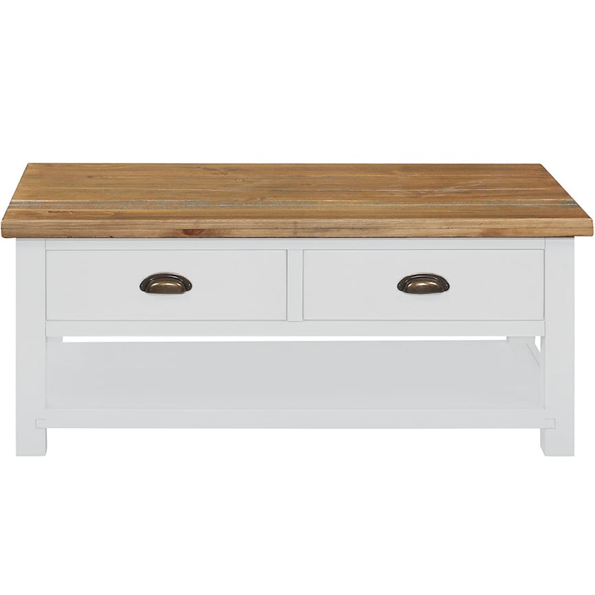 Gresford White 2 Drawer Coffee Table