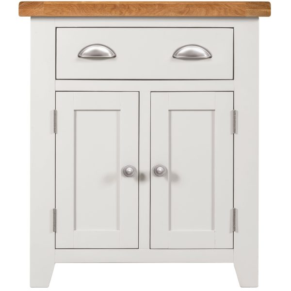 Willow White 2 Door 1 Drawer Sideboard
