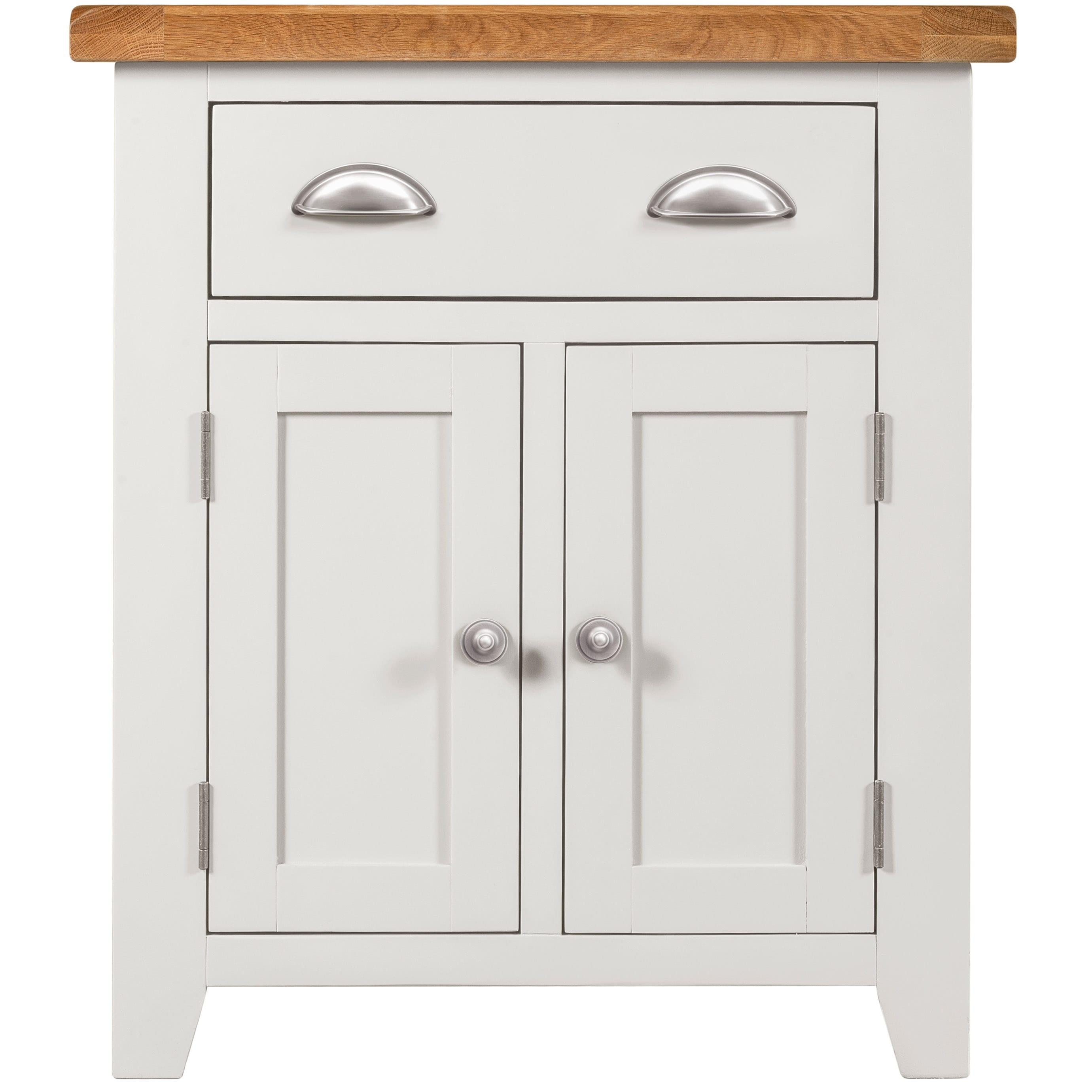 Willow White 2 Door 1 Drawer Sideboard