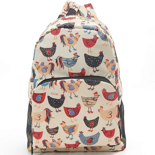 Beige Chicken Foldable Backpack
