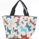 Beige Floral Scotty Dog Lunch Bag