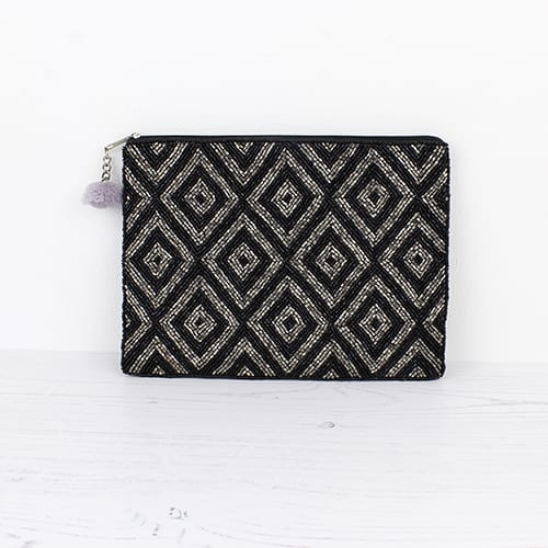 Black & Silver Diamond Purse