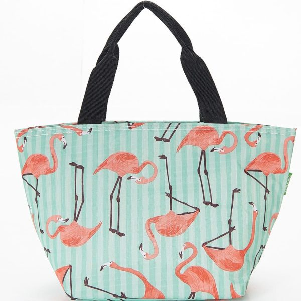 Blue Flamingos Lunch Bag