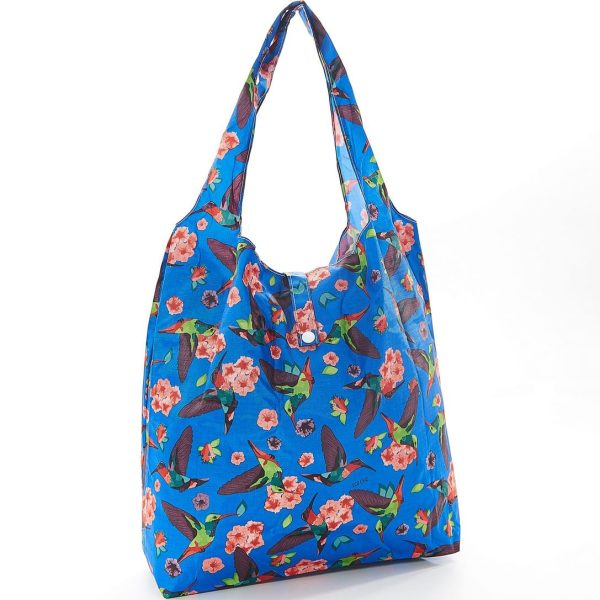 Blue Humming Bird Foldaway Shopper