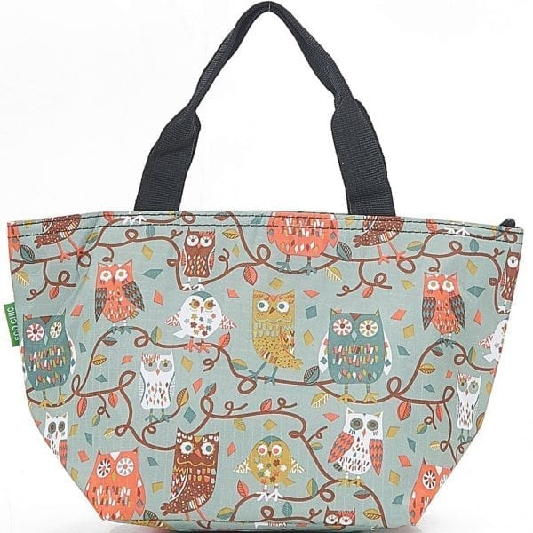 Blue Owl On The Branch Lunch Bag