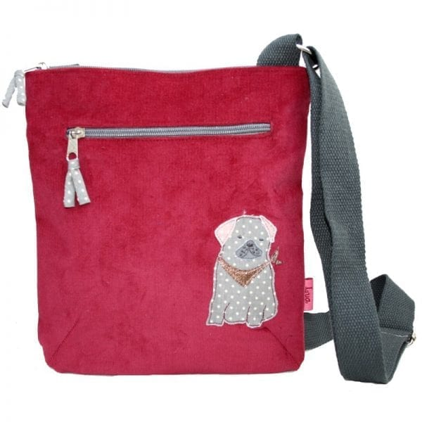 Cherry Red Pug Cross Body Bag