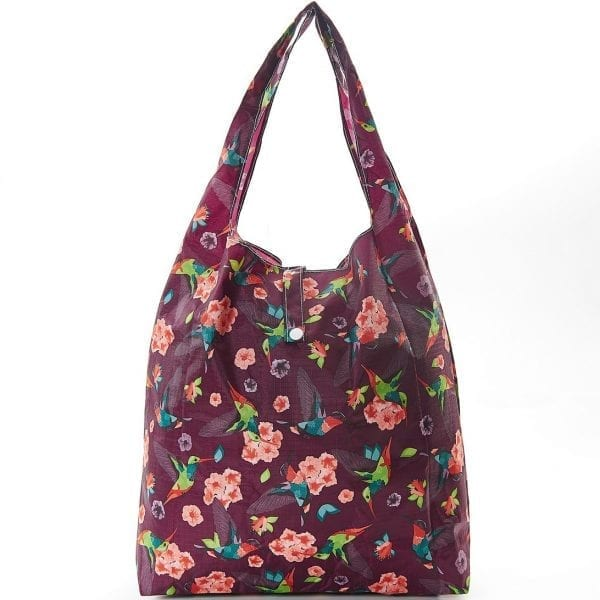 Coffee Humming Bird Foldaway Shopper