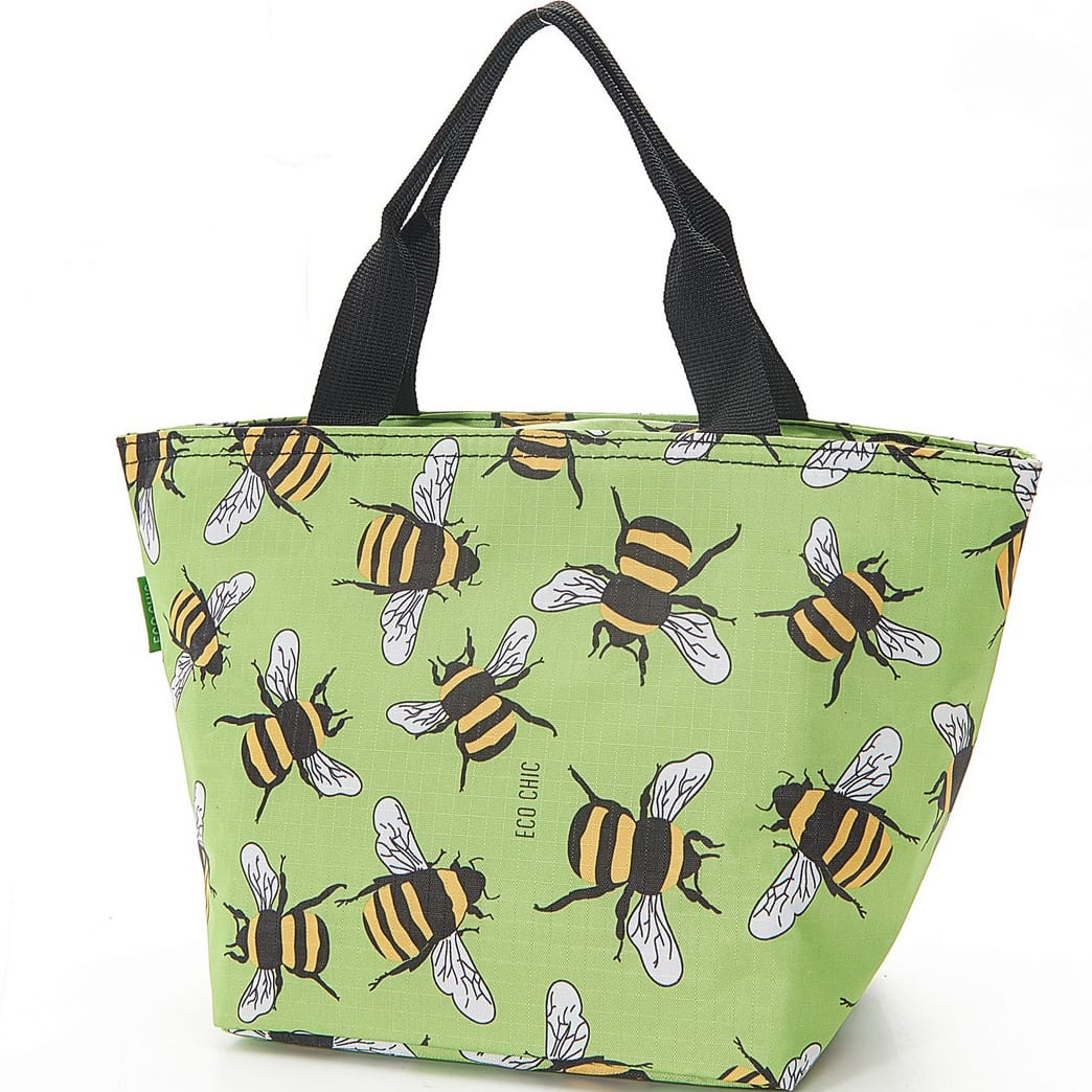 Green Bees Lunch Bag