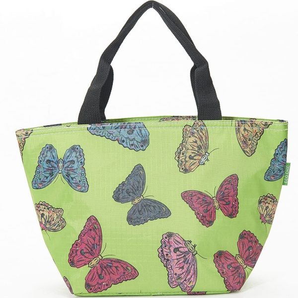 Green Butterflies Print Lunch Bag