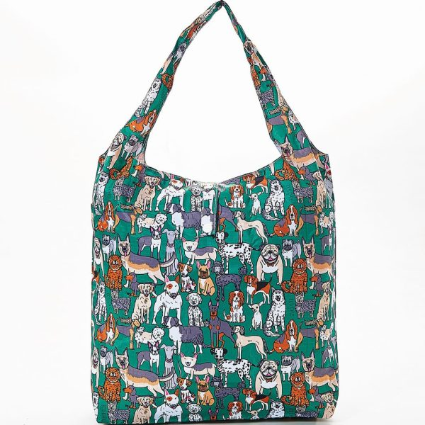 Green Dogs Foldaway Shopper