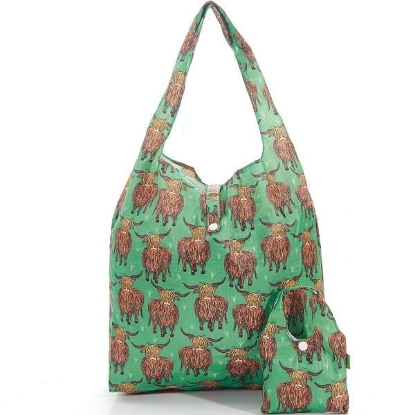 Green Highland Foldaway Shopper