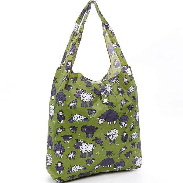 Green Sheep Foldaway Shopper
