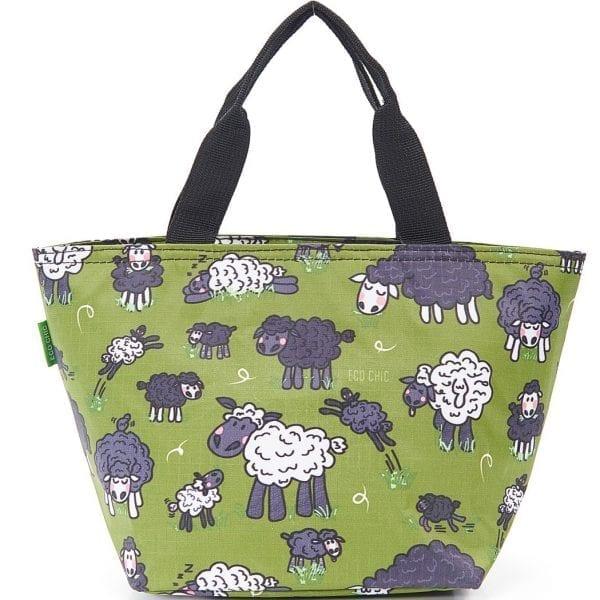 Green Sheep Lunch Bag