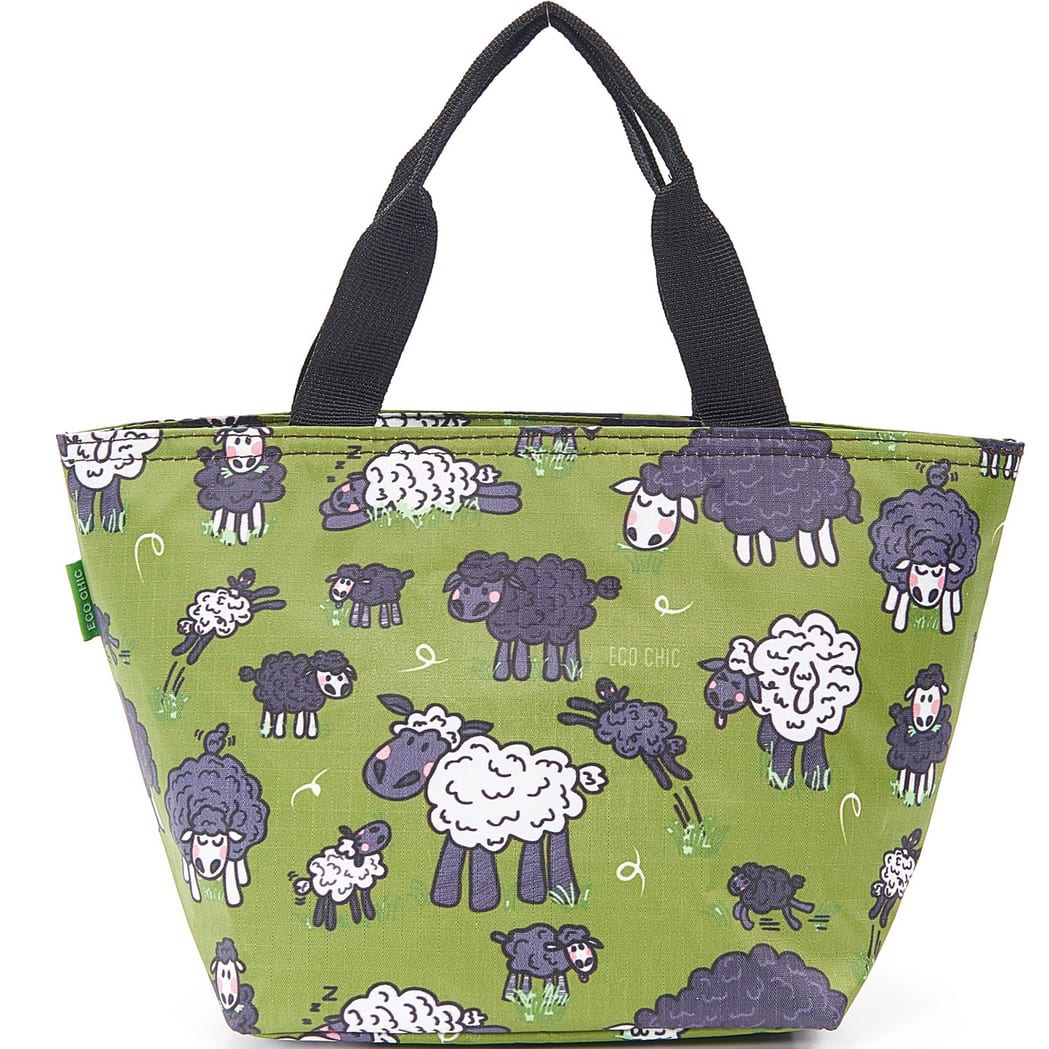 Green Sheep Lunch Bag