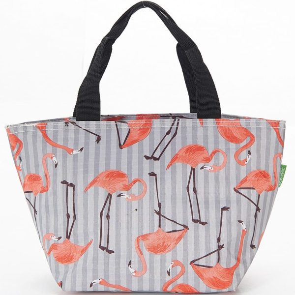 Grey Flamingos Lunch Bag