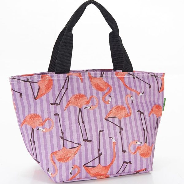 Lilac Flamingos Lunch Bag