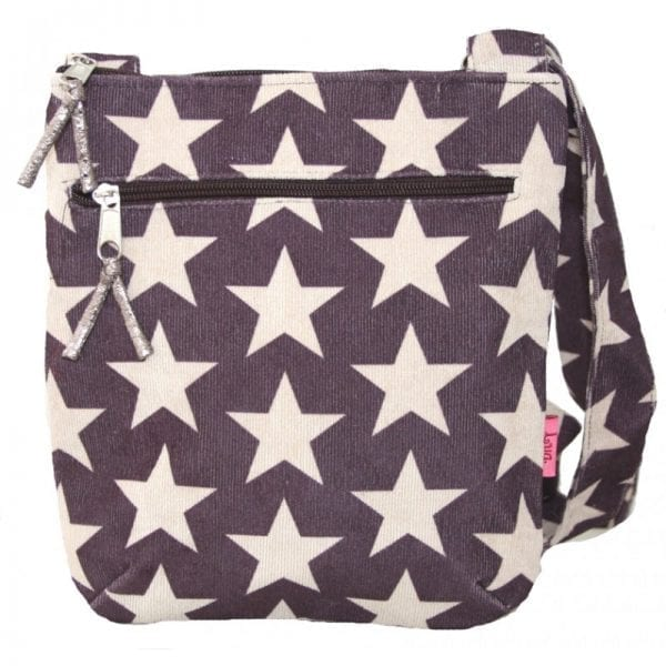 Plum Stars Messenger Bag