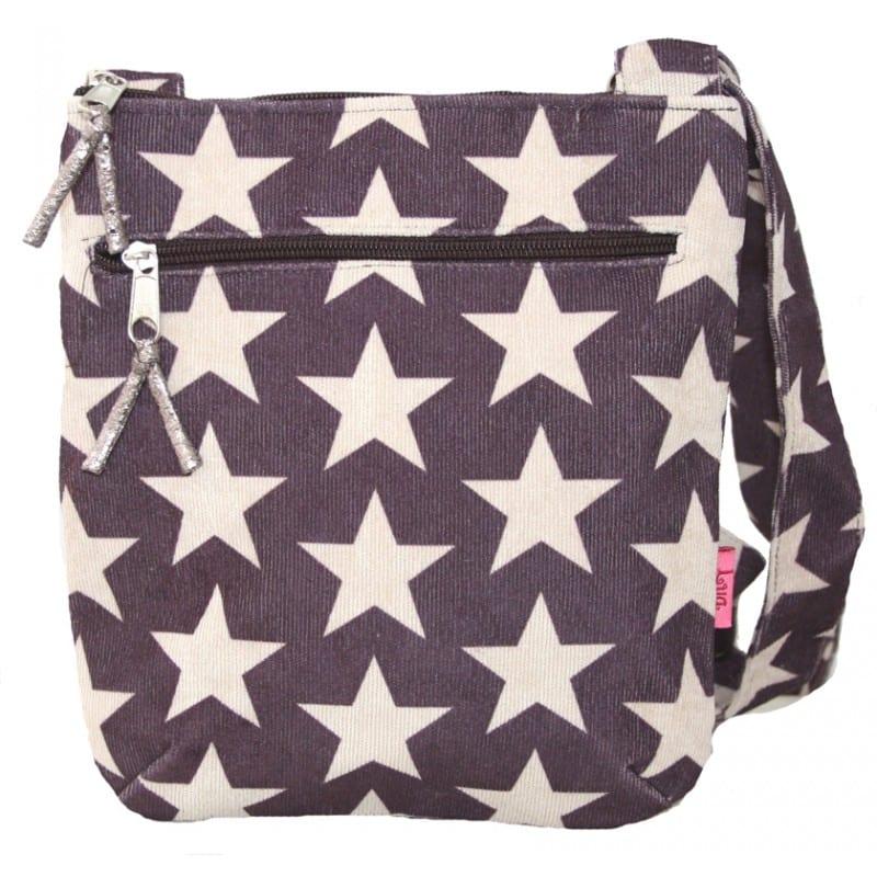 Plum Stars Messenger Bag