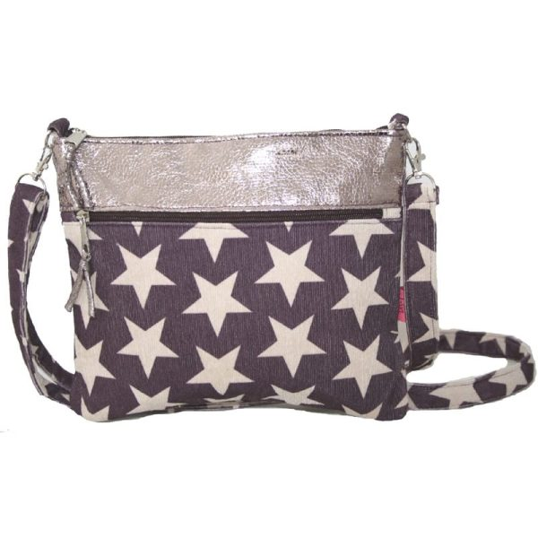 Plum Stars Short Cross Body Bag
