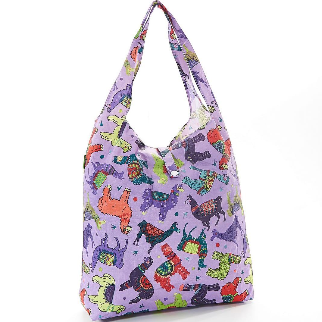 Purple Llama Foldaway Shopper