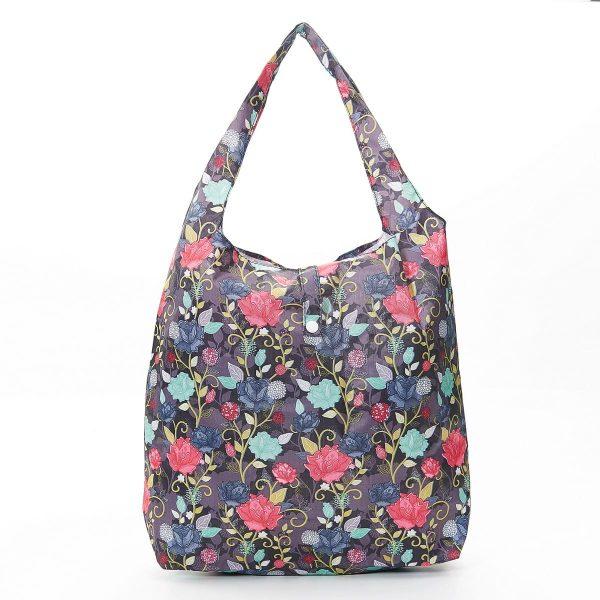 Purple Roses Foldaway Shopper