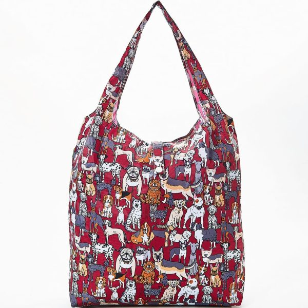 Red Dogs Foldaway Shopper