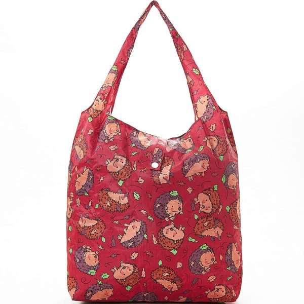 Red Hedgehog Foldaway Shopper
