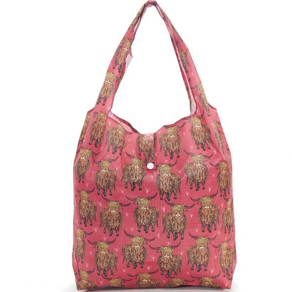 Red Highland Foldaway Shopper