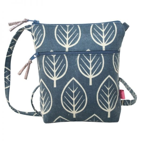Slate Leaf Cross Body Pouch Purse